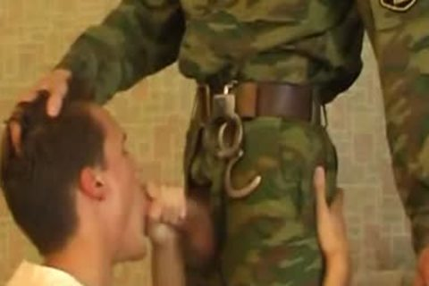 chap Sucks penis Of young nasty Military twink