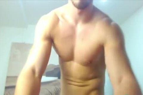 Bearded Hunk Cums supplementary Hard With An OhMiBod Up His booty