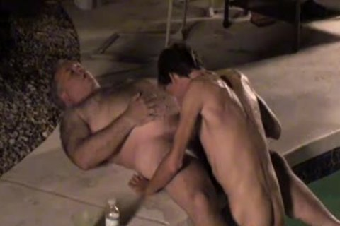 Dilfs engulf ramrod And cum By The Pool!
