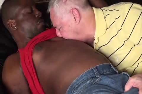black lad plows old daddy unprotected