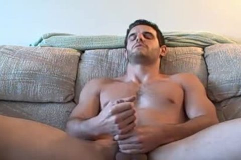 delicious chap Non-professional Engulfing Own jock - Non-professional homosexual Sex Clip - Tube8.