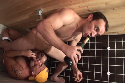 bisexual boyz In A Sauna With fine brunette hair